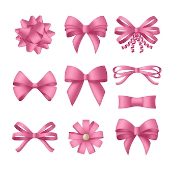 리본 장식 핑크 나비입니다.