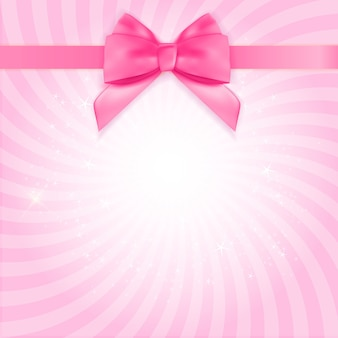 Decorative pink bow