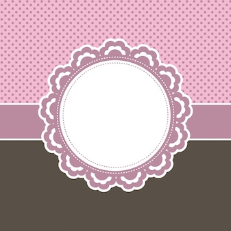 Decorative pink floral label