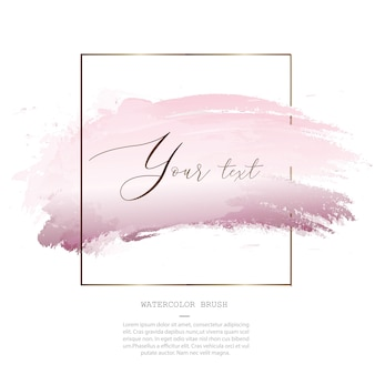 Decorative pink watercolor splash brush template