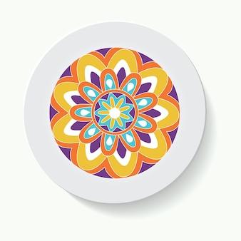Декоративные тарелки для интерьера пустая посуда фарфоровая тарелка макет дизайна