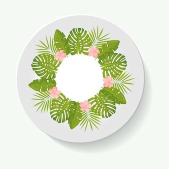 Decorative plates for interior design empty dish porcelain plate mock up design