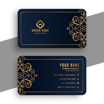 Decorative premium black and gold business card