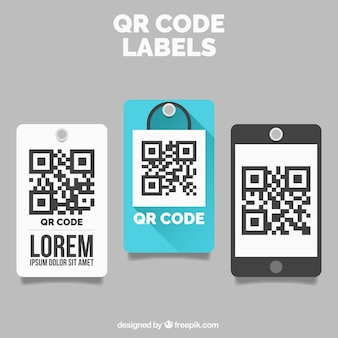Decorative qr code labels
