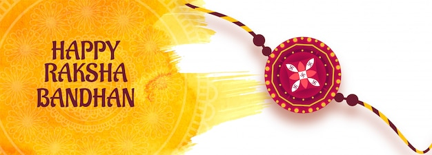 Decorative rakhi banner for raksha bandhan card