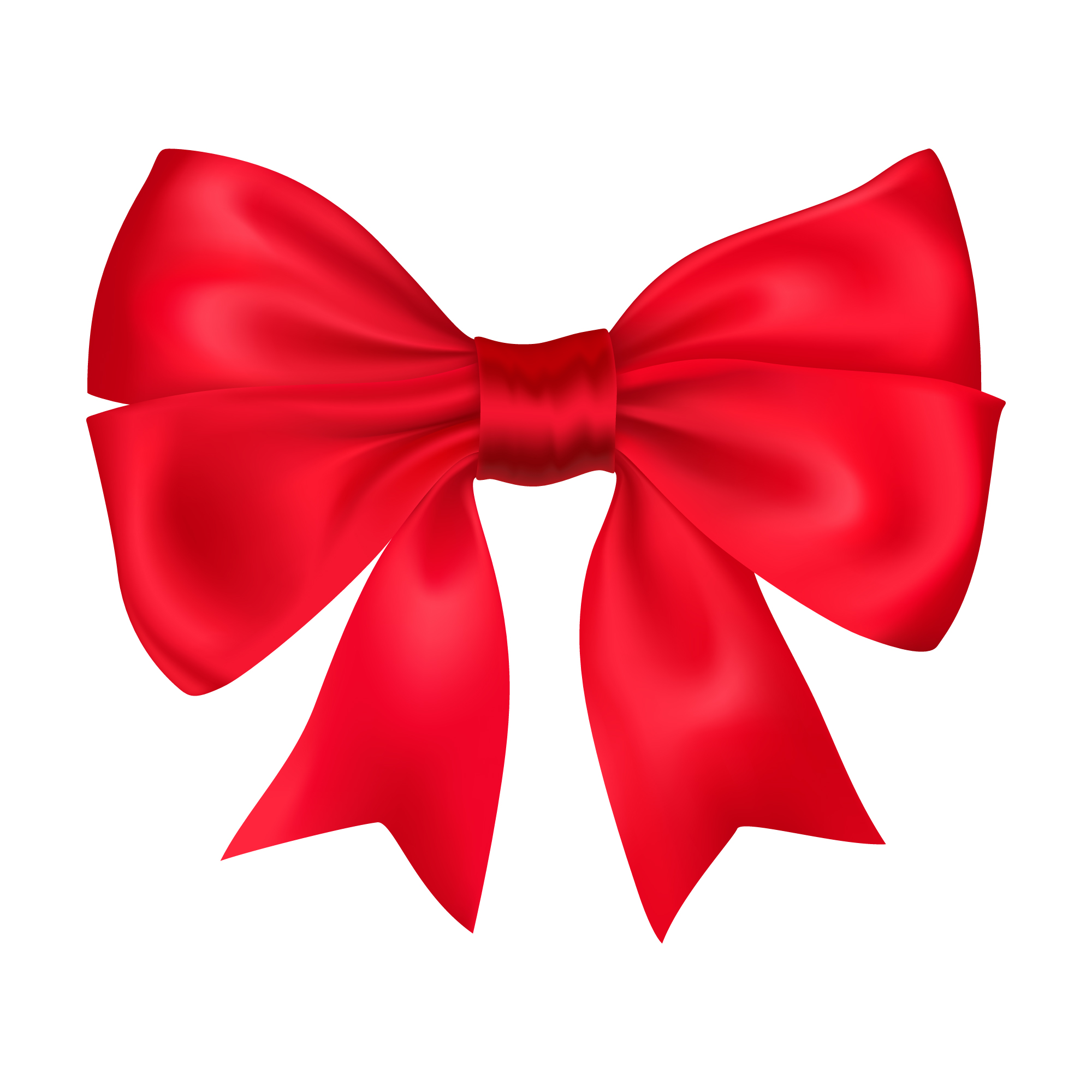 Decorative red bow