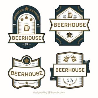 装飾的なレトロなビールラベル