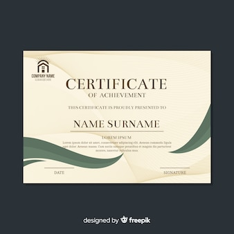 Decorative retro certificate template