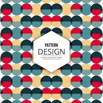 Decorative retro pattern of circles