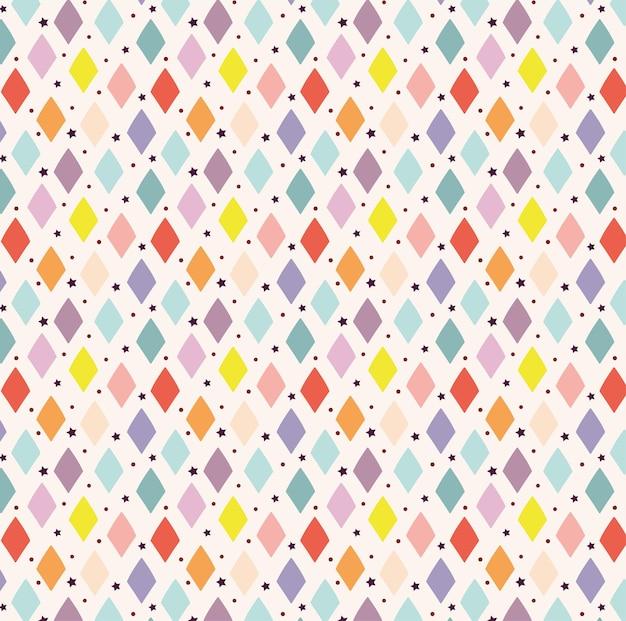 장식 마름모 패턴