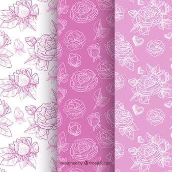 Декоративные розовые узоры в фиолетовых тонах