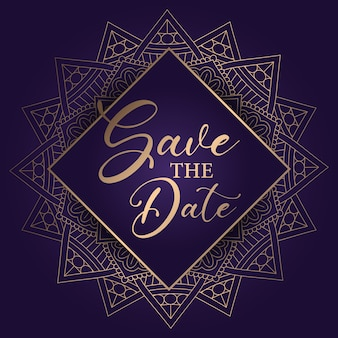 Decorative save the date