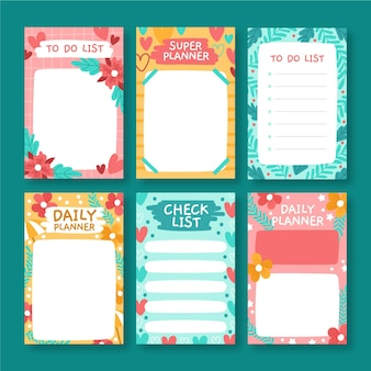 Decorative scrapbook notes and cards collection