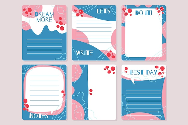 Decorative scrapbook notes and cards