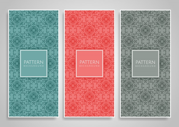 Decorative seamless pattern set
