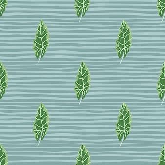Декоративный бесшовный узор с ярко-зелеными осенними дубовыми листьями