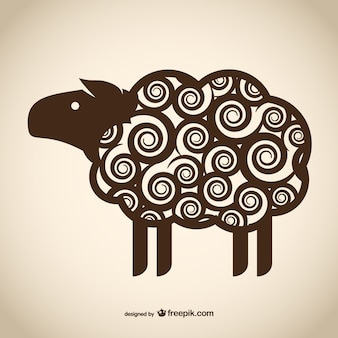 Decorative sheep drawing