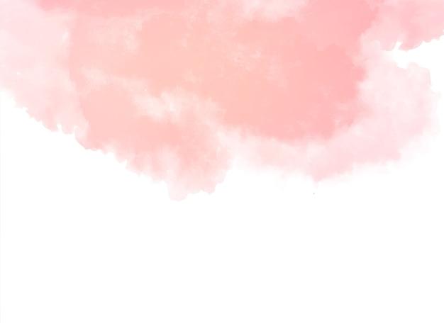 装飾的な柔らかいピンクの水彩テクスチャ背景ベクトル