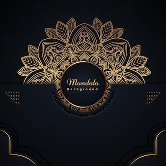 装飾的なスタイルの曼荼羅祭りカード