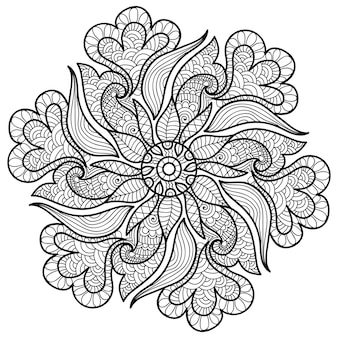 Decorative stylish mandala colouring book page for adults and children