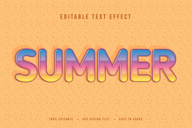 Декоративный летний шрифт