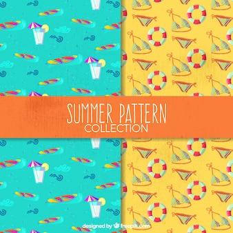 Декоративные летние модели с акварельными элементами