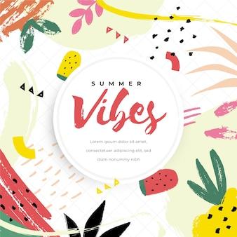 装飾的な夏の壁紙のコンセプト