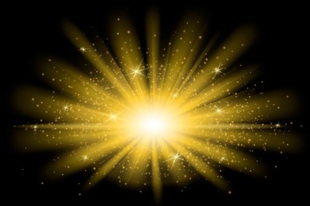 Декоративный световой эффект восхода солнца