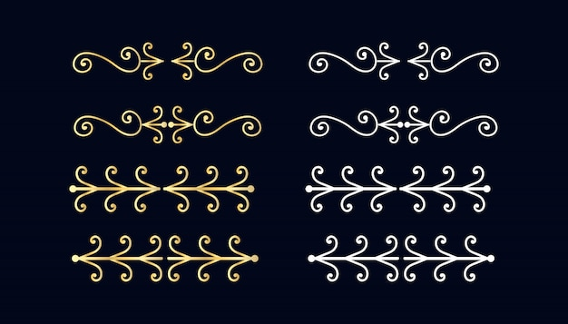 Decorative swirls dividers.