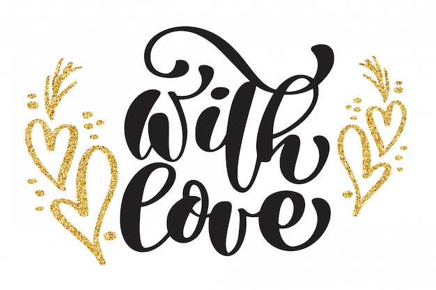 Decorative text with love card
