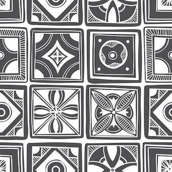 装飾的なタイルパターンのデザイン。ベクトルイラスト。