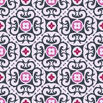 장식 타일 패턴 디자인.