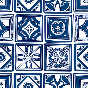 装飾的なタイルパターンのデザイン。