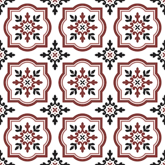 Decorative tile pattern seamless
