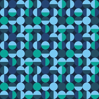 Decorative tile pattern with circular shapes Premium Vector