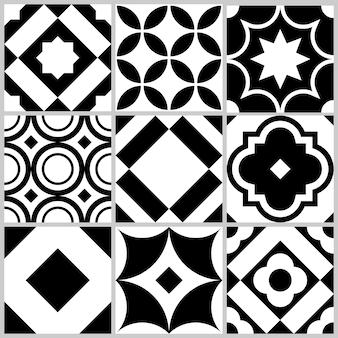 幾何学的形状の装飾的なタイルパターン