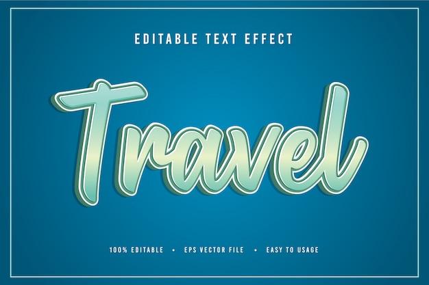Decorative travel font