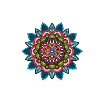 Decorative tribal mandala ornament rosette