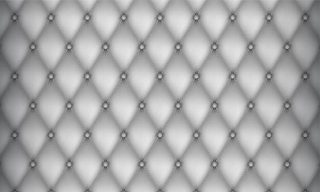 Декоративная обивка стеганого фона. белый реалистичный кожаный фон текстуры дивана.