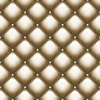 Decorative upholstery soft gloss seamless quilted pattern. true luxury template with gold thread. and also includes