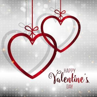 Priorità bassa decorativa del cuore di san valentino
