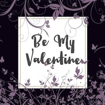 花のデザインと装飾的なバレンタインデーの背景