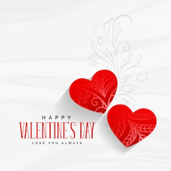 Decorative valentines day greeting with floral art