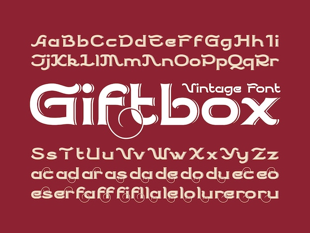 Набор декоративных векторных шрифтов