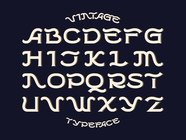 Decorative vector font set