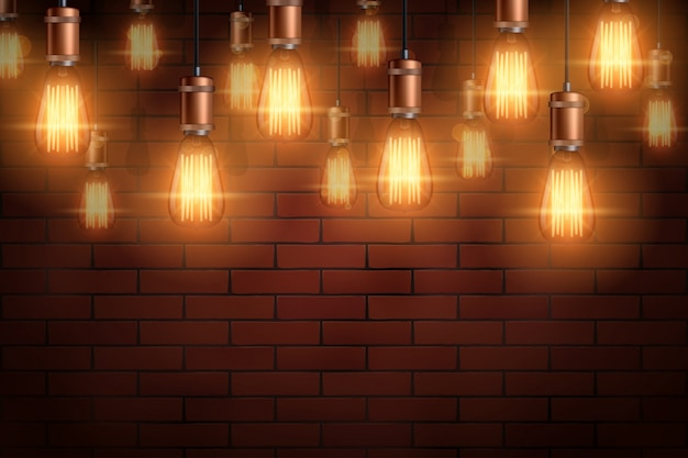 Decorative vintage edison light bulb