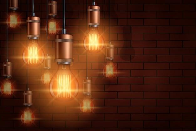 Декоративная винтажная лампочка эдисона
