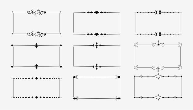 Декоративные старинные цветочные рамки набор из девяти