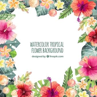 水彩画と装飾的なヴィンテージの花の背景