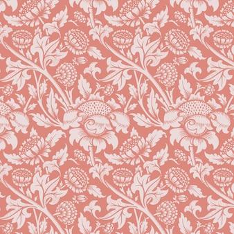 장식 빈티지 꽃 장식 완벽 한 패턴 배경